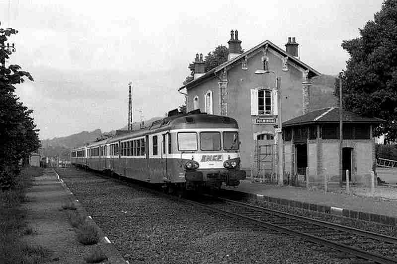 Polminhac Cantal, la gare