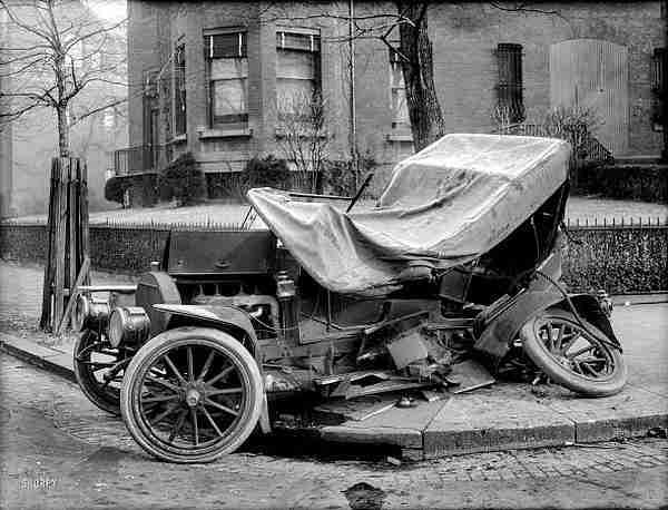 Les Accidents D Automobiles Photos Anciennes Et D