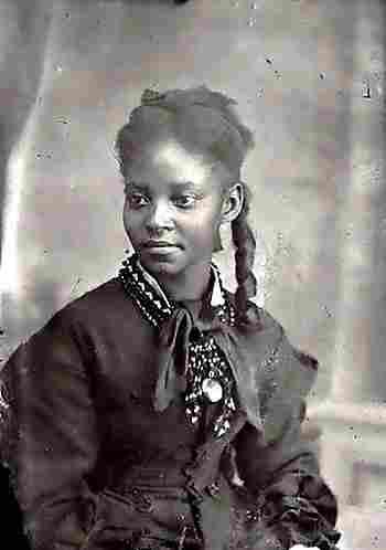 Magnifique Portrait de jeune femme africaine americaine 1890, photos &YV_42