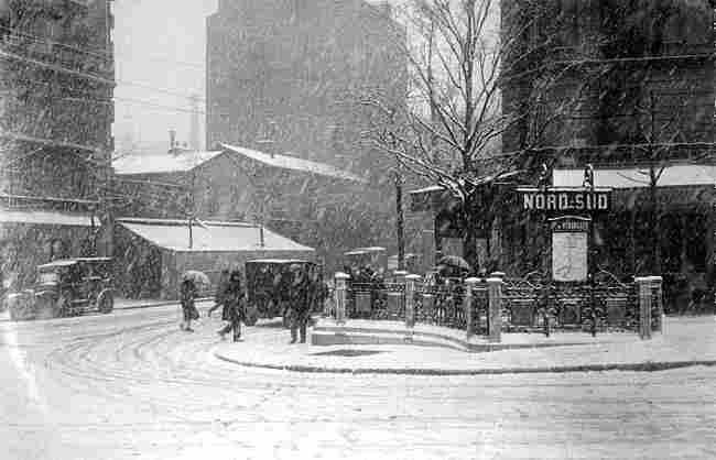 Paris en hiver photos anciennes et d 39 autrefois photographies d 39 poque en noir et blanc - Porte de versailles metro ...