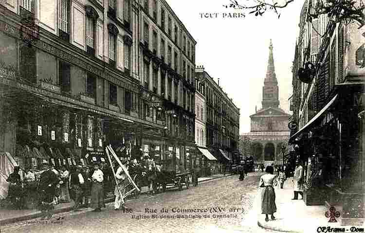 Les rues de paris photos anciennes et d 39 autrefois - Rue du commerce cuisine ...